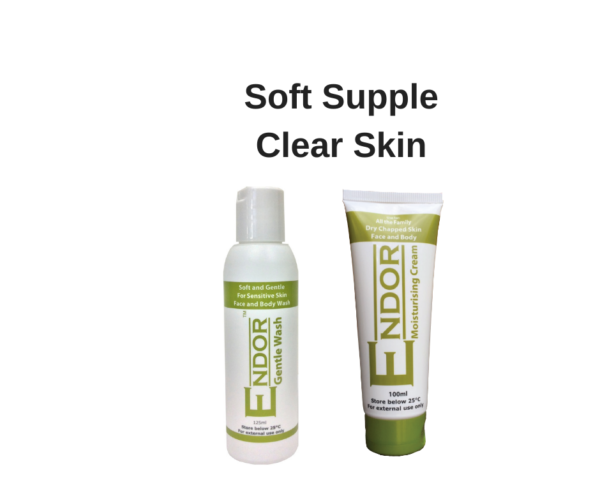 Facial wash and moisturising cream for sensitive skin